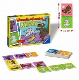 Ravensburger Kinderspiel Legespiel Mauseschlau & Bärenstark XL Bewegungs Domino 21354 - Bild vergrößern