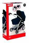Brio Spielzeug Rollenspiel Puppenwagen Spin blau mit Schwenkräder 24901000