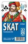32 Blatt Ravensburger FX Schmid Spielkarten Skat Französisches Bild Etui 27003