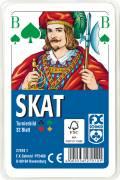 32 Blatt Ravensburger FX Schmid Spielkarten Skat Turnierkarte des DSkV Etui 27010