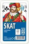 32 Blatt Ravensburger FX Schmid Spielkarten Skat Französisches Bild Leinenstruktur Etui 27015