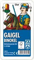 2 x 24 Blatt Ravensburger FX Schmid Spielkarten Gaigel Binokel Wür. Bild Etui 27062