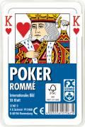55 Blatt Ravensburger FX Schmid Spielkarten Poker Internationales Bild Etui 27067