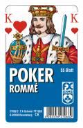 55 Blatt Ravensburger FX Schmid Spielkarten Poker Französisches Bild Etui 27068