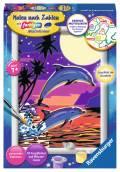 Ravensburger Malen nach Zahlen Classic Sonderserie E Delfine im Sonnenuntergang 27845