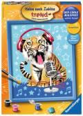 Ravensburger Malen nach Zahlen Trend Serie C Singing Tiger 28458