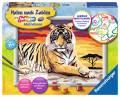 Ravensburger Malen nach Zahlen Classic Serie D Majestätischer Tiger 28553