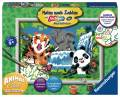 Ravensburger Malen nach Zahlen Classic Serie D Character Animal Club International Dschungel 28648