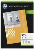 3 HP Druckerpatronen Tinte Nr. 903 XL C / M / Y Multipack