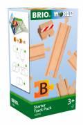 Brio World Eisenbahn Schienen Starter Pack B 13 Teile 33394
