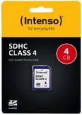 Intenso SDHC Karte 4GB Speicherkarte Class 4