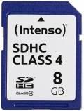 Intenso SDHC Karte 8GB Speicherkarte Class 4 bulk