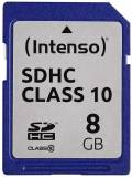 Intenso SDHC Karte 8GB Speicherkarte Class 10 bulk