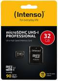 Intenso Micro SDHC Karte 32GB Speicherkarte UHS-I professional 90 MB/s Class 10