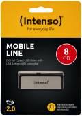 Intenso USB Stick 8GB Speicherstick OTG Mobile Line silber mit Micro USB Anschluss