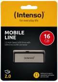 Intenso USB Stick 16GB Speicherstick OTG Mobile Line silber mit Micro USB Anschluss