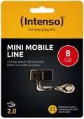 Intenso USB Stick 8GB Speicherstick OTG Mini Mobile Line schwarz mit Micro USB Anschluss