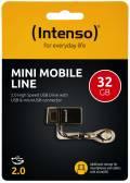 Intenso USB Stick 32GB Speicherstick OTG Mini Mobile Line schwarz mit Micro USB Anschluss