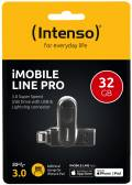 Intenso USB Stick 32GB Speicherstick iMobile Line Pro anthrazit USB 3.0 mit Apple Lightning
