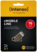 Intenso USB Stick 16GB Speicherstick cMobile Line silber Typ C USB 3.1 mit USB 3.0
