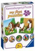 9 x 2 Teile Ravensburger Kinder Puzzle my first puzzles Tierfamilien auf dem Bauernhof 05072