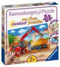 12 Teile Ravensburger Kinder Puzzle my first outdoor puzzles Meine Baustelle 05073