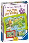 3 x 6 Teile Ravensburger Kinder Rahmen my first puzzles Kleine Gartentiere 05138