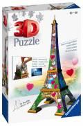 216 Teile Ravensburger 3D Puzzle Bauwerk Eiffelturm Love Edition 11183