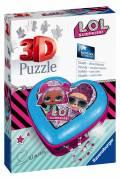 54 Teile Ravensburger 3D Puzzle Herzschatulle LOL Surprise! 11233