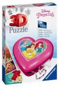 54 Teile Ravensburger 3D Puzzle Herzschatulle Disney Princess 11234