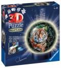 72 Teile Ravensburger 3D Puzzle Ball Nachtlicht Raubkatzen 11248