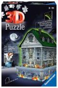 216 Teile Ravensburger 3D Puzzle Bauwerk Gruselhaus bei Nacht 11254