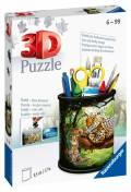 54 Teile Ravensburger 3D Puzzle Utensilo Raubkatzen 11263