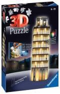 216 Teile Ravensburger 3D Puzzle Bauwerk Schiefer Turm von Pisa bei Nacht 12515