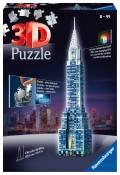216 Teile Ravensburger 3D Puzzle Bauwerk Chrysler Building bei Nacht 12595