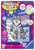 Ravensburger Malen nach Zahlen Classic Sonderserie E Brilliant Süße Wolfsfamilie 27784