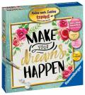 Ravensburger Malen nach Zahlen Trend Serie Quadratisch Make your dreams happen 28796