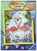 Ravensburger Malen nach Zahlen Trend Serie C Flamingo Love 28901