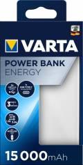 Varta Powerbank mobile Ladestation Energy 15000 mAh Typ A / Typ C USB OUT weiß
