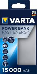 Varta Powerbank mobile Ladestation Fast Energy 15000 mAh Typ A / Typ C USB OUT silber