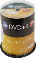 100 HP Rohlinge DVD+R 120Min 4,7GB 16x Spindel