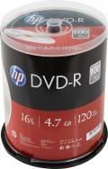 100 HP Rohlinge DVD-R 120Min 4,7GB 16x Spindel