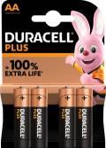 4 Duracell Plus AA / Mignon Alkaline 100% Extra Life Batterien im 4er Blister