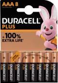 8 Duracell Plus AAA / Micro Alkaline 100% Extra Life Batterien im 8er Blister