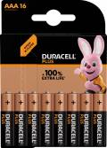 16 Duracell Plus AAA / Micro Alkaline 100% Extra Life Batterien im 16er Blister