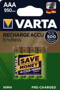 4 Varta 56683 Akku AAA 950mAh Endless Nickel-Metall-Hydrid im 4er Blister