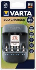 Varta Akku Ladegerät Charger Eco für 4 AA / AAA 57680