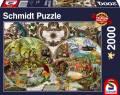 2000 Teile Schmidt Spiele Puzzle Exotische Weltkarte 58362