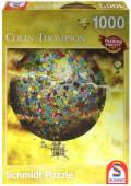 1000 Teile Schmidt Spiele Puzzle Quadrat Colin Thompson Phantastische Ballonfahrt 59400