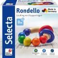 Selecta Babywelt Holz Greifling Rondello mit Klapperringen 61007